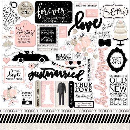 Wedding Bliss Cardstock Stickers 12
