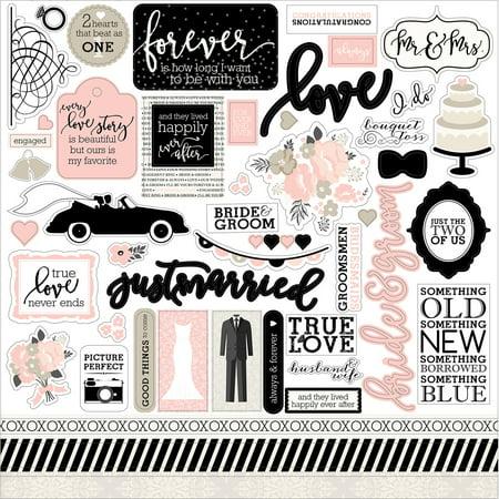 Wedding Bliss Cardstock Stickers 12