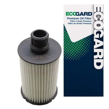 ECOGARD X10239 Cartridge Engine Oil Filter for Conventional Oil - Premium Replacement Fits Land Rover Range Rover Sport, Range Rover, LR4, Discovery / Jaguar XF, XJ, F-Type, XK, XKR, XE, XFR,