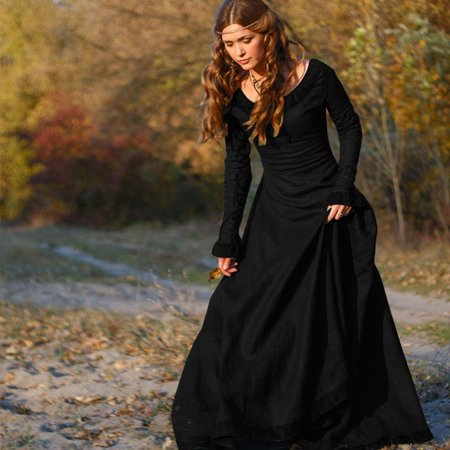 Women Vintage Medieval Dress Cosplay Costume Princess Renaissance Gothic - Medieval Lady Dress