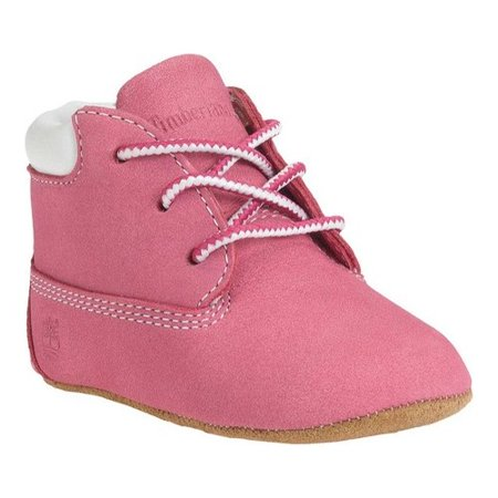 Timberland Crib Booties And Hat Set Infant Toddlers Baby Pink/white Clothing, Shoes & Accessories Kids' Clothing, Shoes & Accs