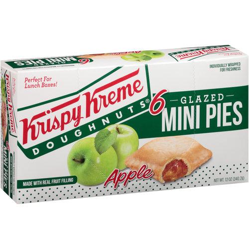Krispy Kreme Glazed Apple Mini Pies, 6 ct, 12 oz
