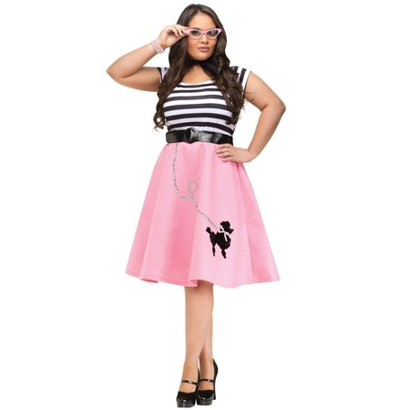 Adult Plus Pink Poodle Costume (dress) - Poodle Dress