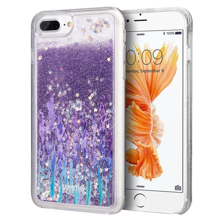 Luxmo Sparkling QuickSand Love & Lavender Hard Snap-in Case Cover For Apple iPhone 7 Plus/8 Plus,