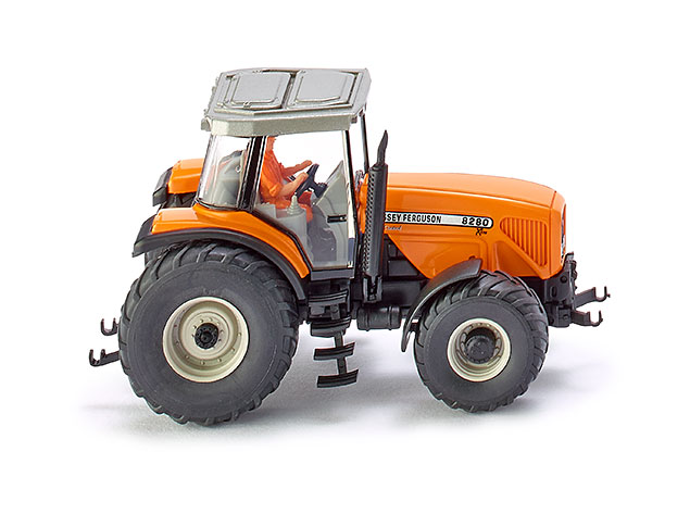 Wiking HO Scale Vehicle Farm Machinery Massey-Ferguson MF8200 Tractor Orange by Wiking