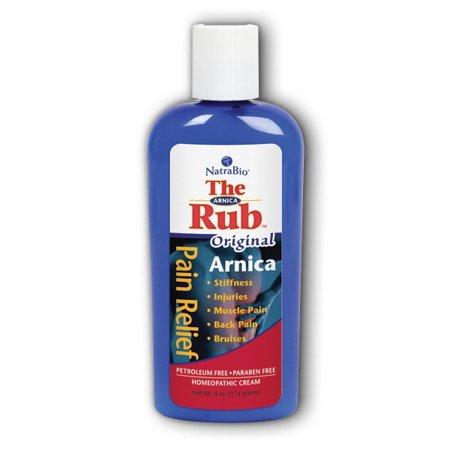 Arnica Rub Original Natra-Bio 4 oz Cream