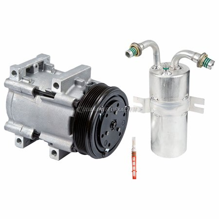AC Compressor w/ A/C Drier & Exp For 1989 Ford Econoline Club Wagon Van Econoline Van Club Wagon
