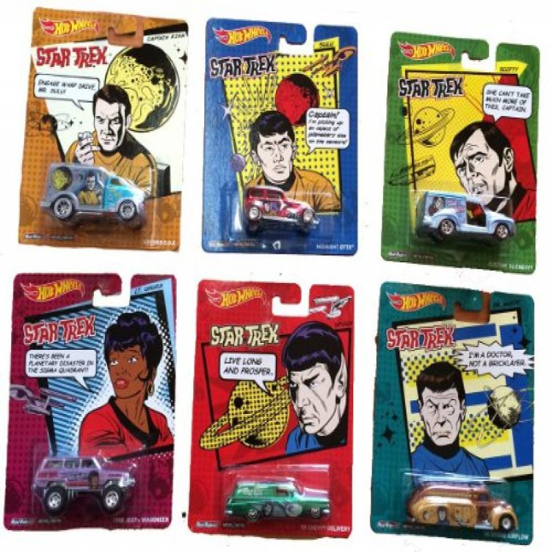 Star Trek Hot Wheels Pop Culture Set Of 6 by