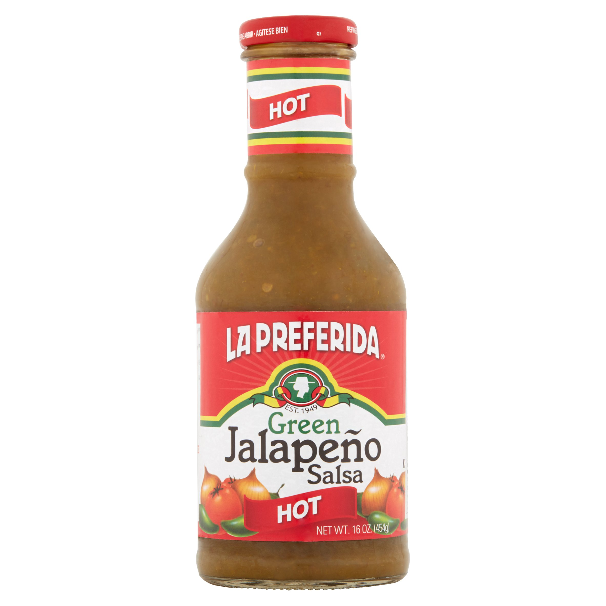La Preferida Hot Green Jalapeño Salsa, 16 oz