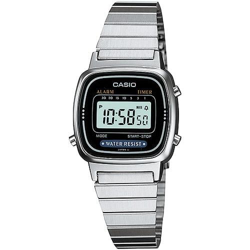 Casio Ladies' Digital Alarm Watch, Stainless Steel