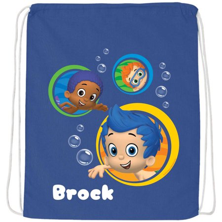 Personalized Bubble Guppies Guppy Buddies Blue Drawstring Bag](Bubble Guppies Backpack)