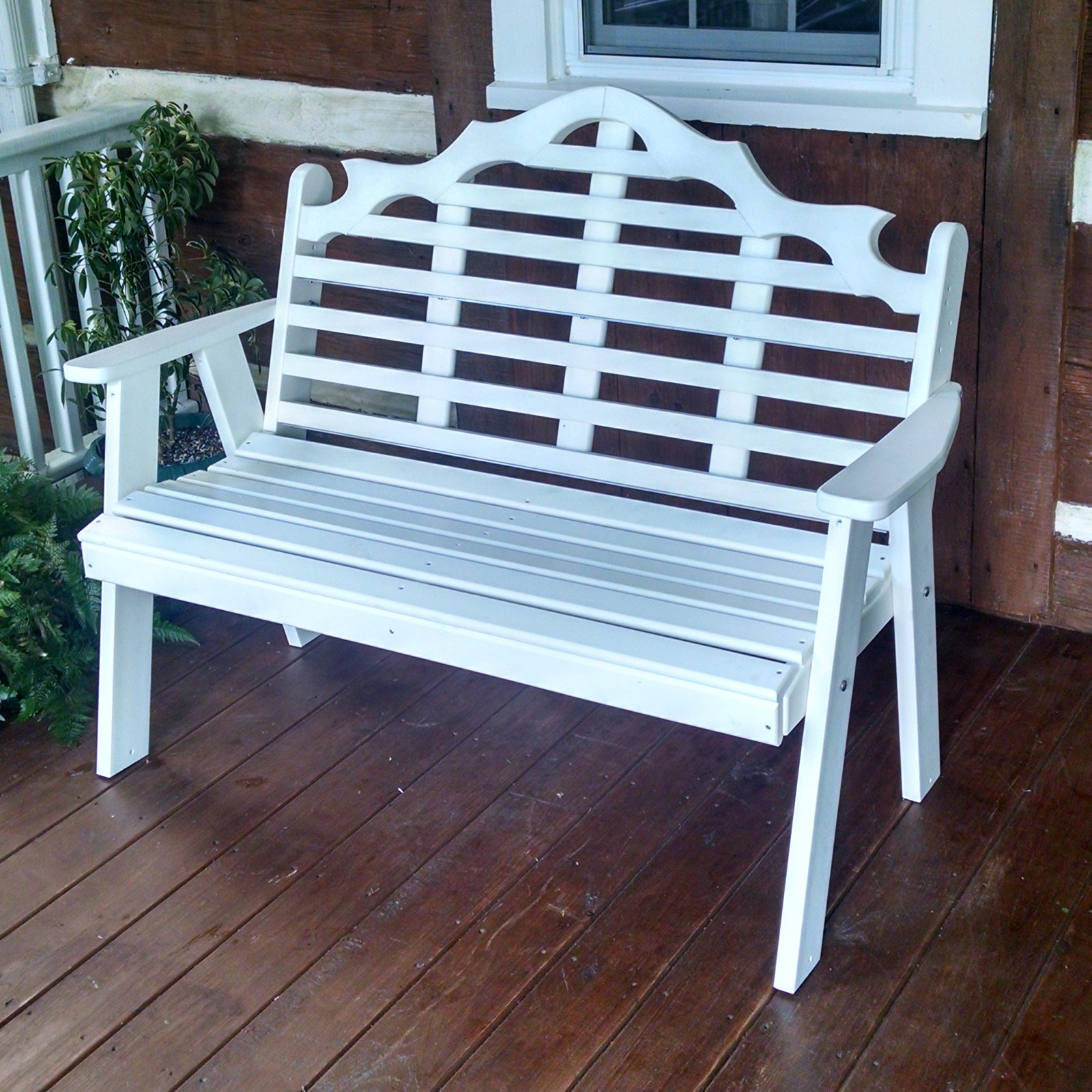 A & L Furniture Marlboro Poly Recycled Plastic Garden Bench by A and L Furniture Co