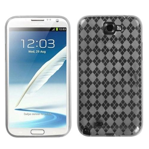 Insten T-Clear Argyle Candy Skin Case for SAMSUNG: Galaxy Note II (T889/I605/N7100)