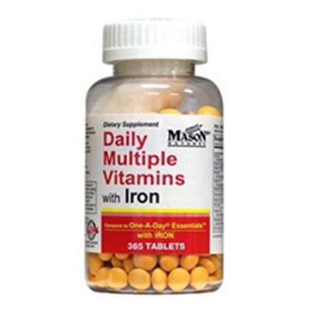 Mason Natural Daily Multiple Vitamins With Iron Compare To One A Day Essentials With Iron - 365