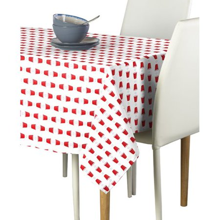 Latitude Run Mcbean Beer Pong Cups Milliken Signature Tablecloth (Beer Pong Cup Costume)