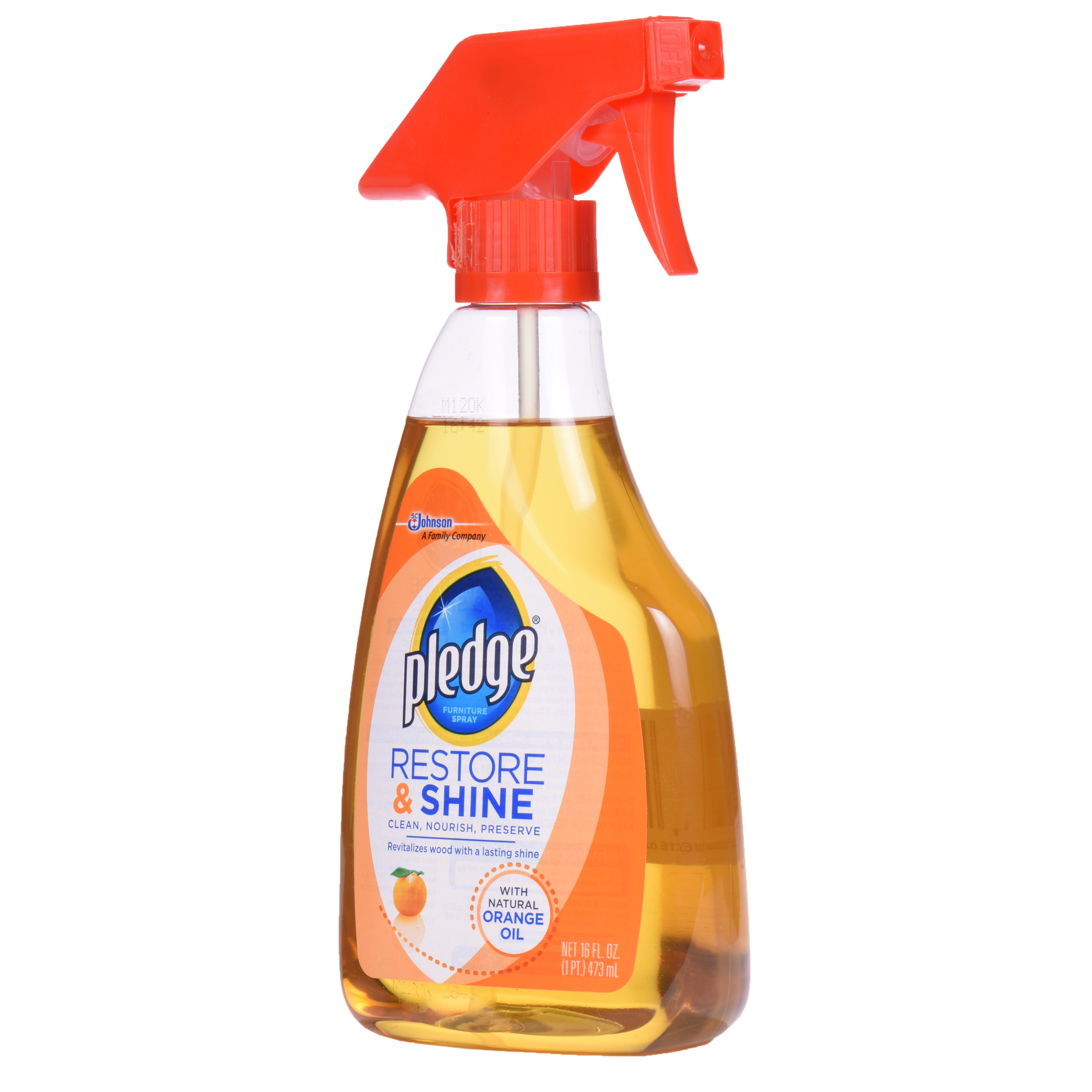 Pledge Restore & Shine with Natural Orange Oil 16.0 fl oz(pack of 2)