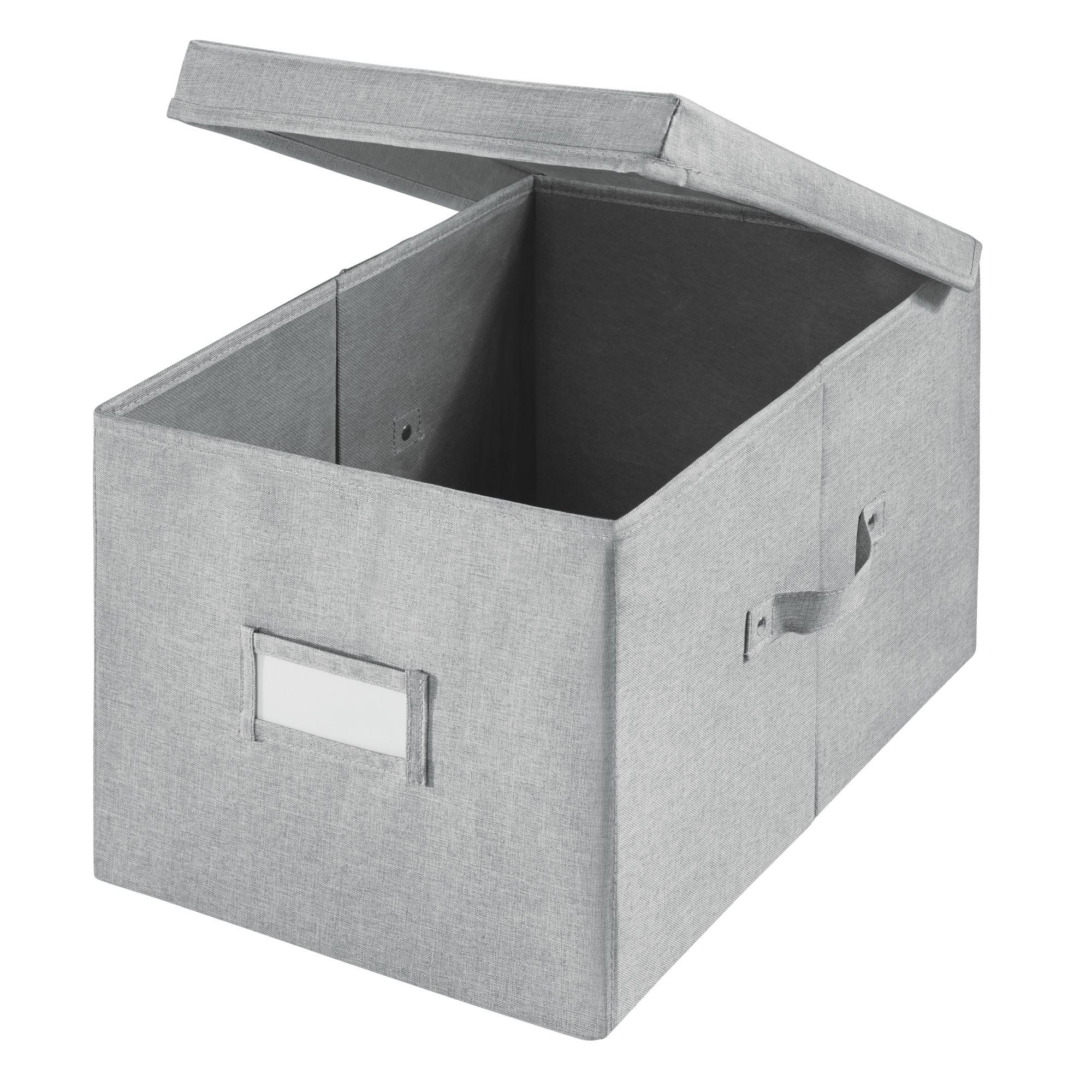 iDesign Codi Fabric Storage Box Organizer, Gray, Various Sizes