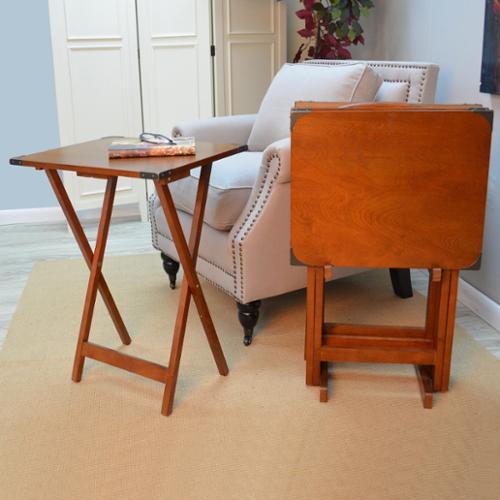 Hawthorne 5-piece Folding Tray Table Set