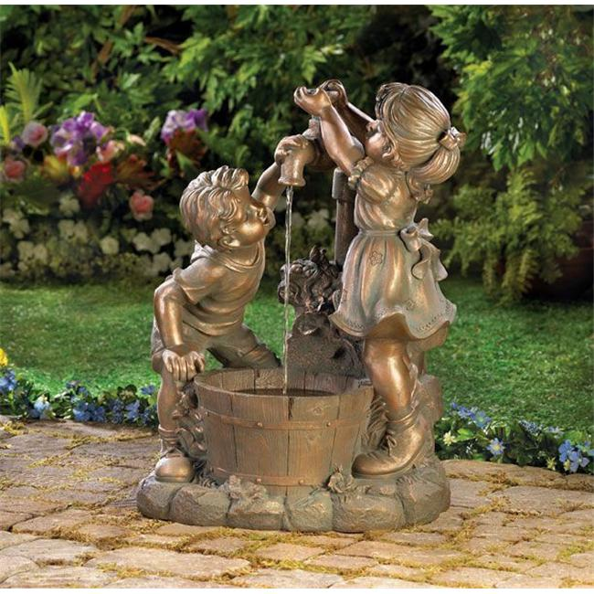 DSPS 1305723903930930 Children in Garden Water Fountain