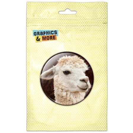 White Llama Pinback Button Pin Badge (Honor Pinback Button)