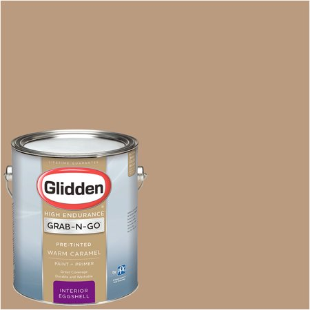 Glidden Pre Mixed Ready To Use, Interior Paint and Primer, Warm (Unique Caramel Color Glass)