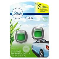 Febreze Car Air Freshener Vent Clip, Meadows & Rain, 2 Count