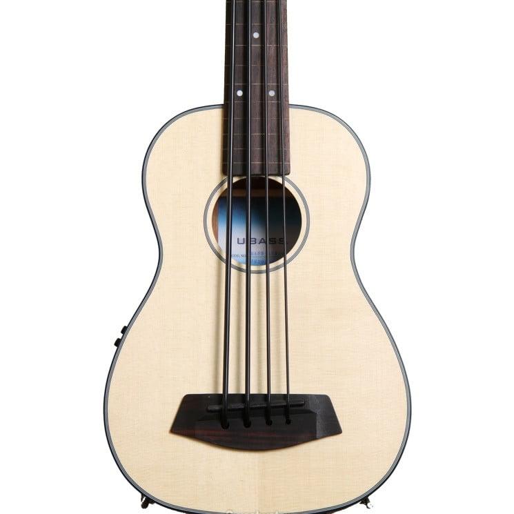 Kala U-Bass Acoustic/Electric Satin Solid Spruce/Mahogany Fretless