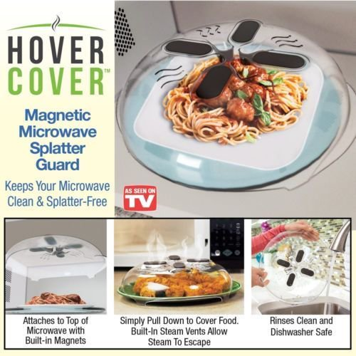 Hover Cover Magnetic Microwave Food Seen On Tv