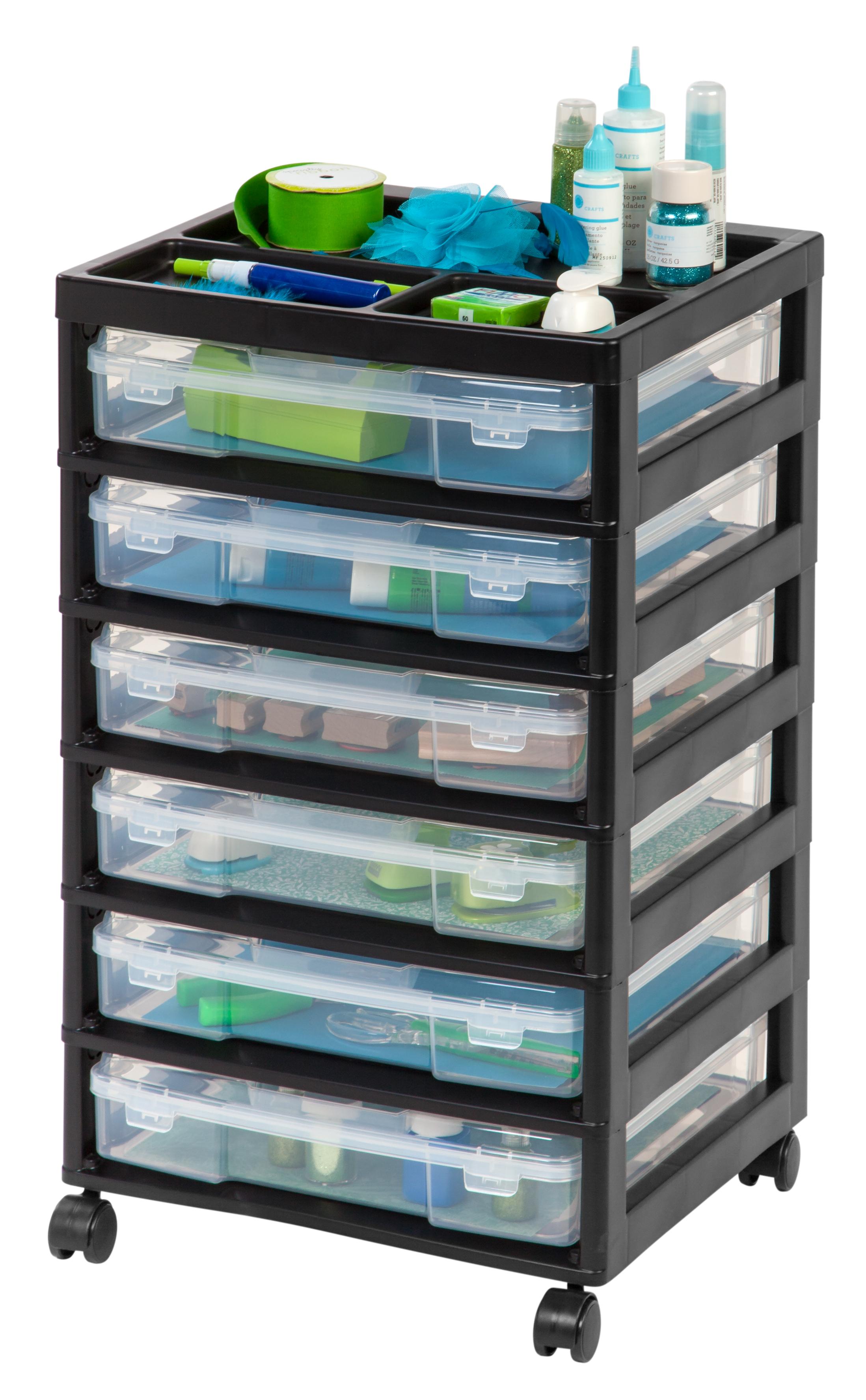Iris 6 Case Scrapbook Storage Cart White Walmart
