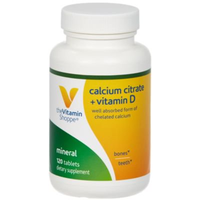 Calcium Citrate with 400IU Vitamin D  – Mineral Essential for Healthy Bones  Teeth – 100 Daily Value of Well Absorbed Form of Chelated Calcium, Vitamin D (as Ergocalciferol (120