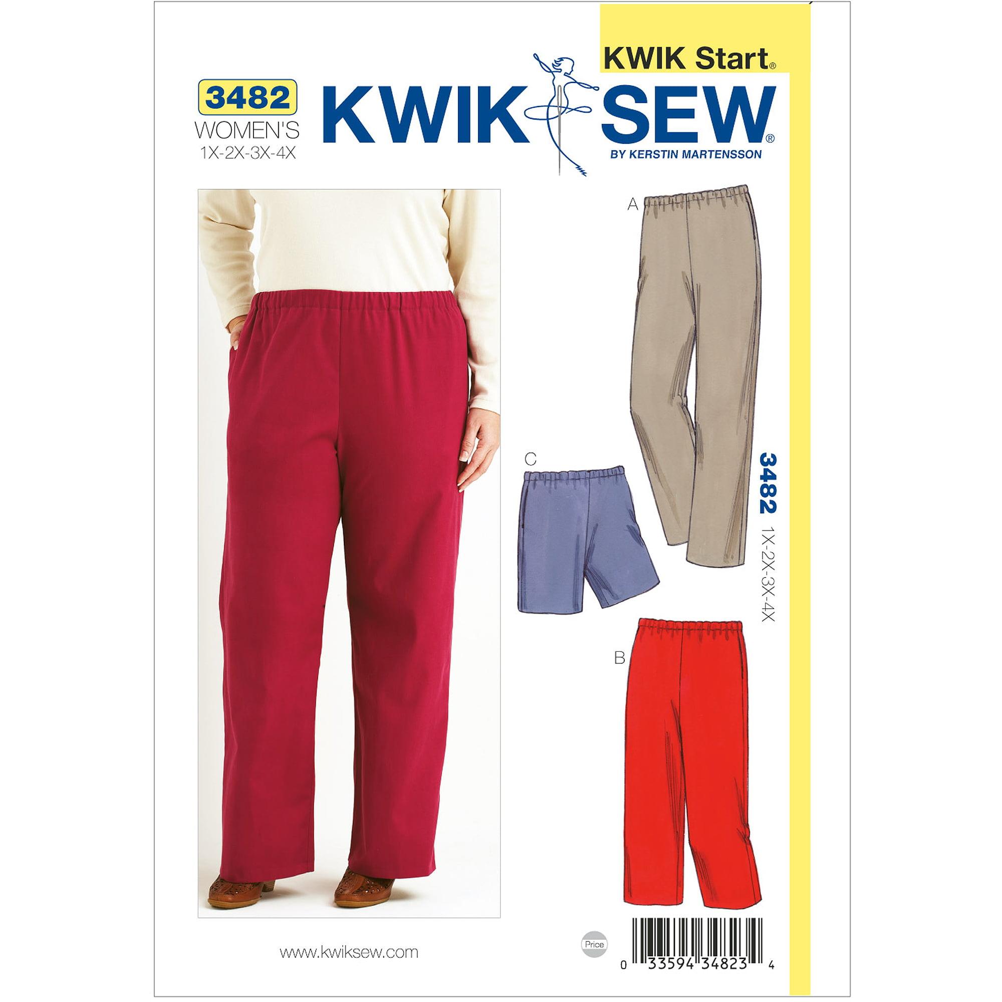 Kwik Sew Pattern Pants and Shorts, (1X, 2X, 3X, 4X)
