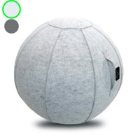Sitting Ball Chair with Handle for Home or Office - Includes Exercise Ball with Pump