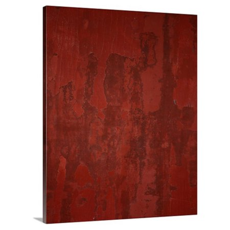 Great BIG Canvas Red Painted Texture Canvas Wall Art ()