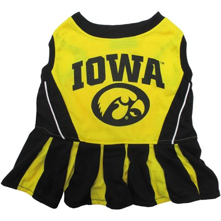 Pets First College Iowa Hawkeyes Cheerleader, 3 Sizes Pet Dress Available. Licensed Dog Outfit](Dog Cheerleader Outfit)
