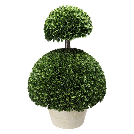 A & B Home Double Semi Circle Boxwood Topiary