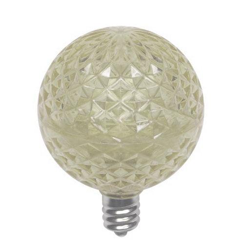 Queens of Christmas G30-RETRO-WW Retrofit G30 LED Warm White bulb faceted E17 base 5 internal-LEDs retrofit n
