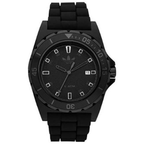 Adidas Men's Stockholm ADH2669 Black Rubber Black Dial Quartz Watch by Overstock