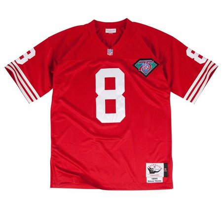 be19f0416 Steve Young San Francisco 49ers NFL Mitchell   Ness Men s Red Authentic  Throwback Home Jersey - Walmart.com