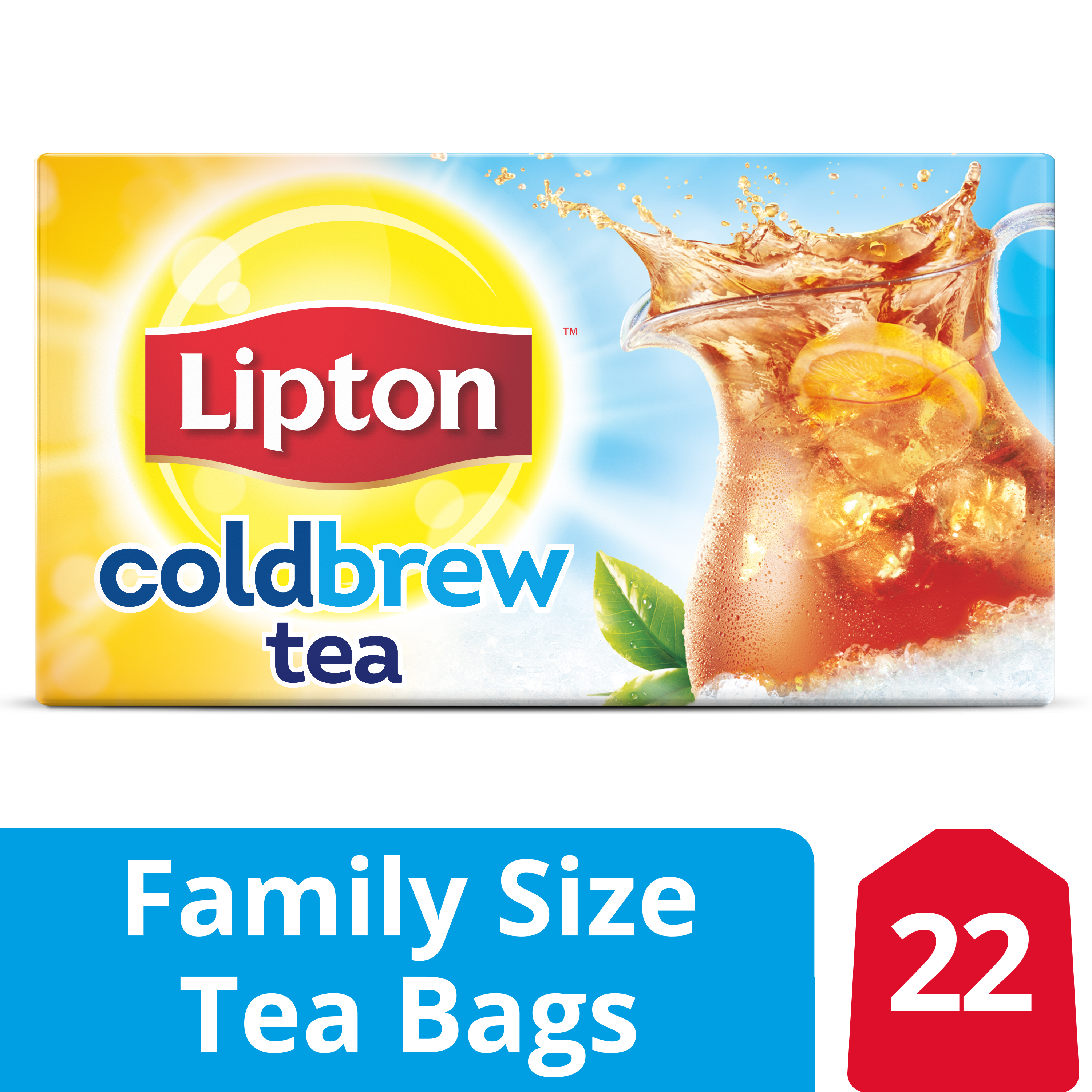 Lipton Cold Brew Black tea Family Iced Tea Bags 22 ct