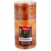 "Better Homes and Gardens 6"" Pillar Candle, Warm Rustic Woods"