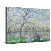 Springtime, 1886 Monet Impressionism Figurative Botanical Tree Landscape Stretched Canvas Print Wall Art By Claude Monet