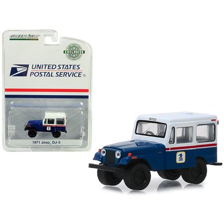 - Greenlight Collectibles 29998 1:64 1971 Jeep DJ-5 United States Postal Service (USPS) - Blue with White Roof (Hobby Exclusive)