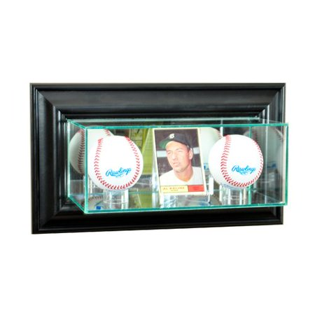 Perfect Cases And Frames Wall Mounted Card And Double Baseball Display Case