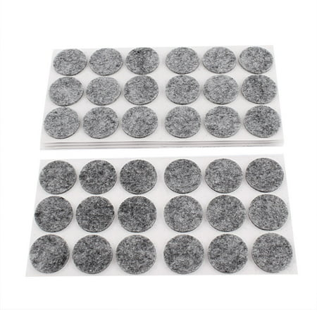 90Pcs Antislip Felt Round Chair Foot Cover Furniture Protector ()