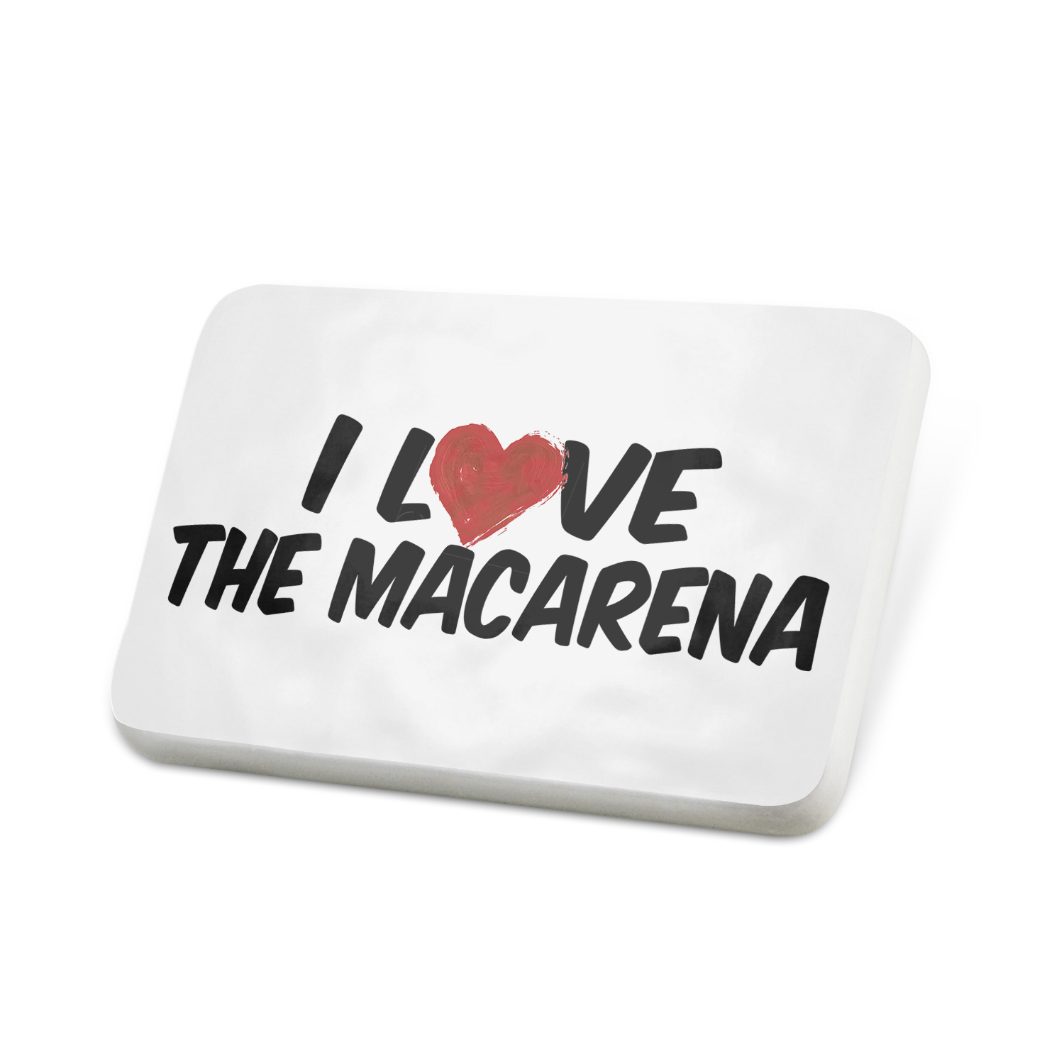 Porcelein Pin I Love the Macarena Lapel Badge – NEONBLOND