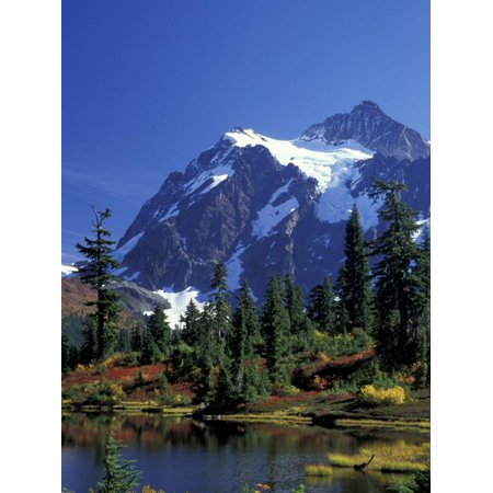 Mount Shuksan and Picture Lake, Heather Meadows, Washington, USA Print Wall Art By Jamie & Judy Wild