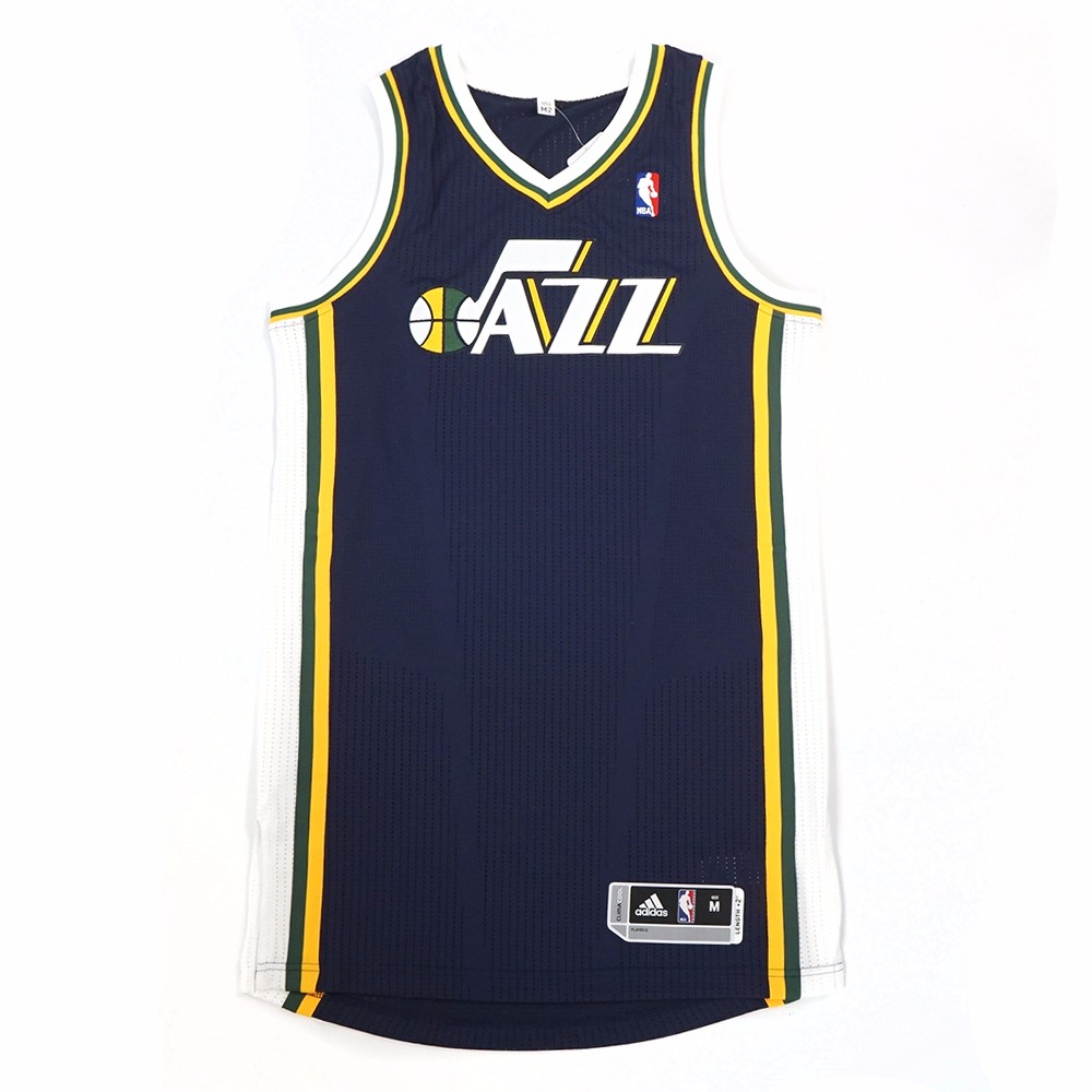 Utah Jazz NBA Adidas Men's Navy Blue Authentic On-Court Wordmark Climacool Jersey