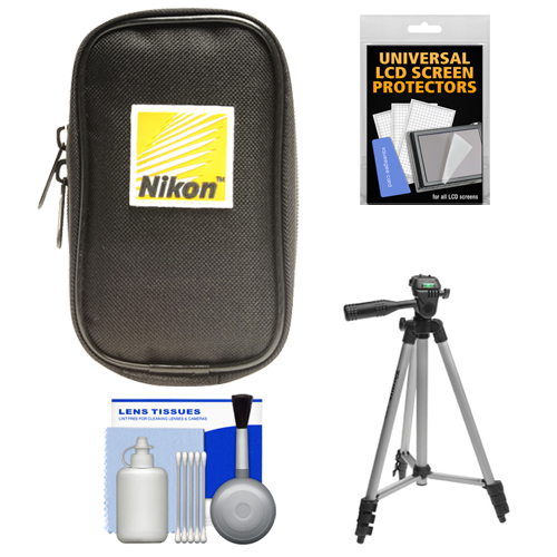 Nikon Coolpix Nylon Digital Camera Carrying Case with Tripod   Accessory Kit for A, AW110, AW120, P330, P340, S31, S32, S800c, S5300, S6800, S9500, S9700