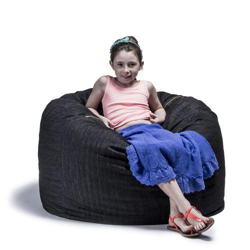 jaxx Denim 3' Bean Bag Chair