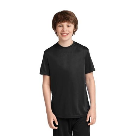 PC380Y Youth Performance Tee, Jet Black - Extra Small